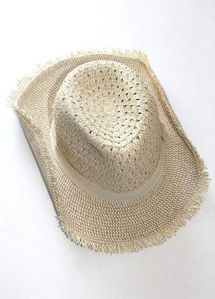 Летняя  шляпа с гибкими полями, ковбойская, унисекс. германия. 56-58