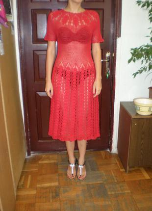 Великолепное платье вязаное