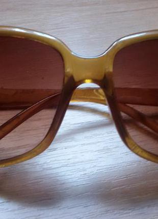 Солнцезащитные очки коричневые большые квадратные