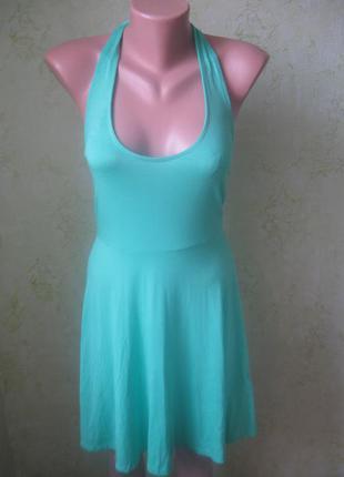 Платье сарафан с открытой спинкой.