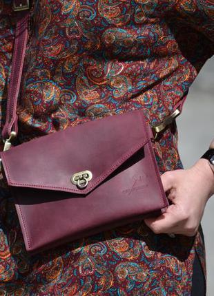 Поясная сумка из натуральной кожи2 фото