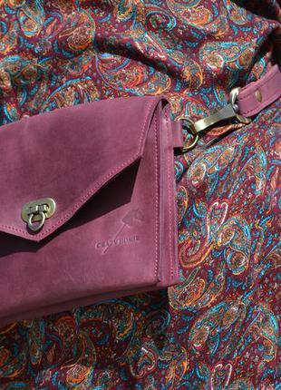 Поясная сумка из натуральной кожи4 фото