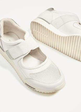 Оочень удобные кроссовки zara на липучках