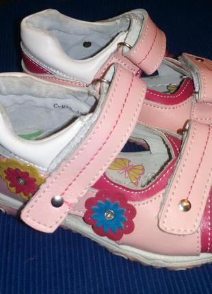 Кожаные ортопедические босоножки, сандали mxm (tom.m) на девочку, р.21, 22, 24, 26