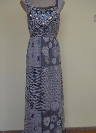 Шикарное нарядное фирменное платье длинное большой размер