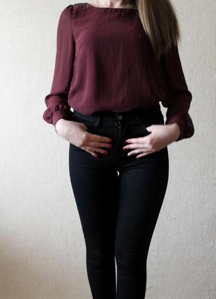 Блуза блузка atmospher цвет бордо марсала