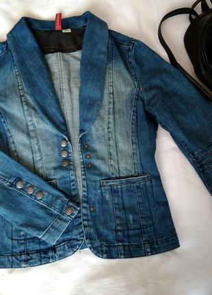 Брендовый джинсовый пиджак куртка h&m акция 1+1=3
