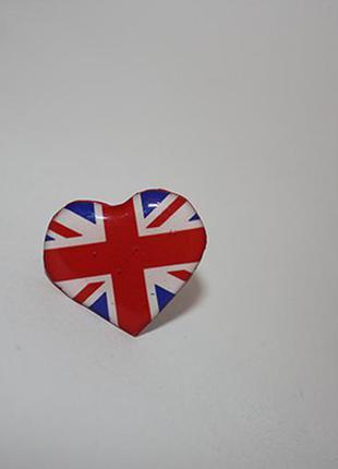 Кольцо с английским флагом