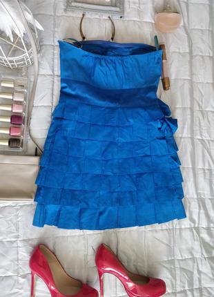Легке шовкове плаття 65%котон, 35%шовк, оздоблення 100% шелк