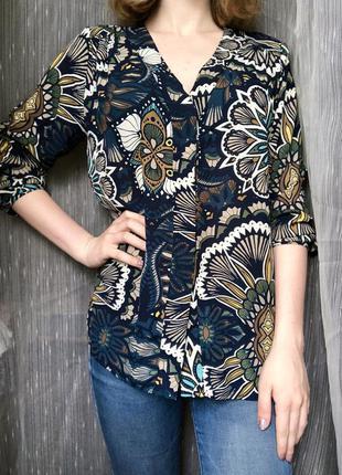 Блузка с цветочным принтом h&m