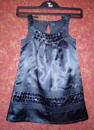 Красивое нарядное черное платье на девочку 3 года tu