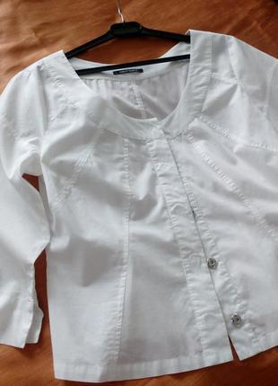 Стильная и сексуальная блузка батист apriori (априори) люкс, 100% хлопок, р 38, ид сост