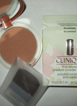 Компактная пудра с эффектом загара clinique true bronze pressed powder bronzer
