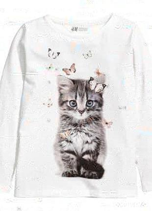 Красивая футболка с длинным рукавом h&m