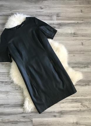 Стильное кожаное платье