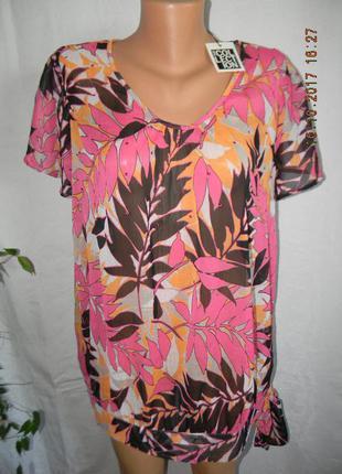 Новая шифоновая блуза с принтом debenhams