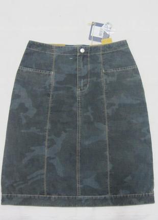 Юбка миди джинсовая узкая средней длины garcia. размер xs