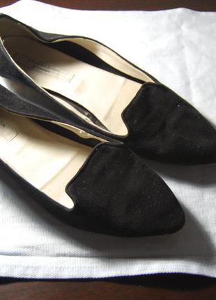 Тканевые туфли черные 40