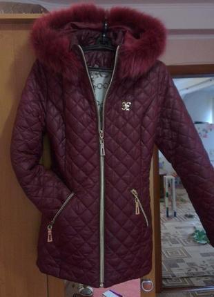 Класическая зимняя курточка шанелька.