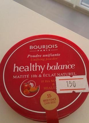 Bourjois healthy balance компактная пудра для лица