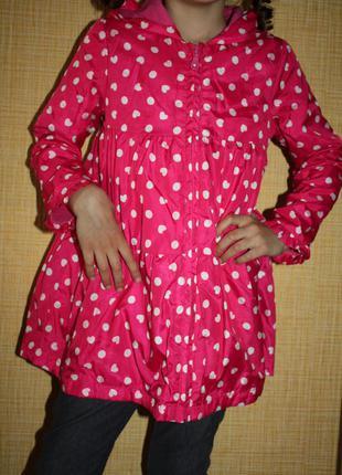 Пальто плащ benetton для девочки 3-5 лет.