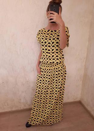 Длинное платье в пол сердечки