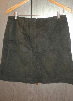 "Классная юбка ""под замшу"" черного цвета, dorothy perkins , размер 16."