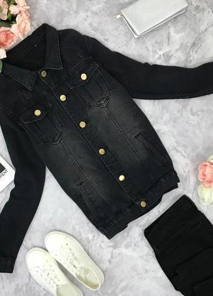 Куртка oversize из выкрашеного денима   jc1816352