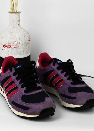 Кроссовки фиолетово-малинового adidas l.a.trainer размер 36-37  | 23 см