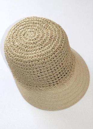 Плетёная шляпка, кеппи, кепка, соломка. германия. 53-55