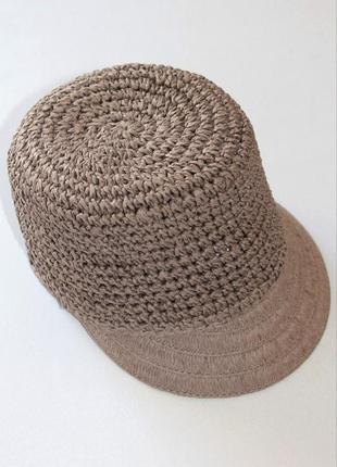 Плетёная шляпка, кеппи, кепка, соломка. германия. 56-59