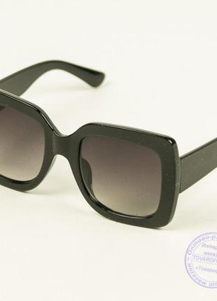 Квадратные солнцезащитные очки женские - черные - 1761