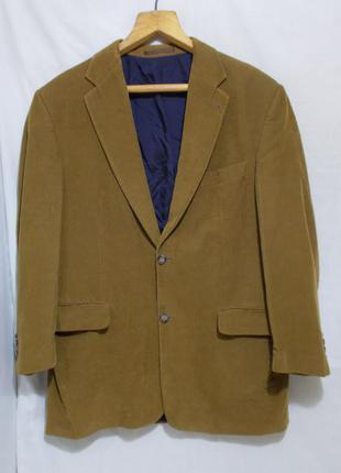 Пиджак вельветовый горчичного цвета *lutz 1904* голландия 52-54р