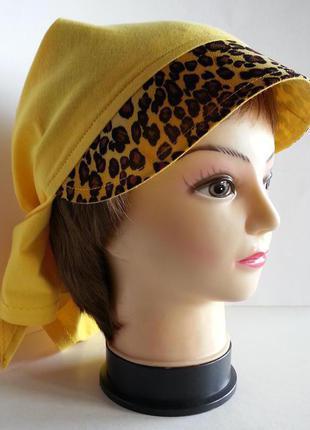 Бандана женская. желтый трикотаж.  ручная работа. цена: 120 гр.