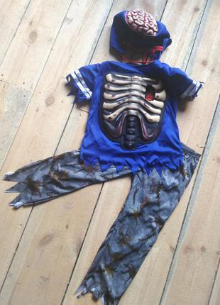 Карнавальный костюм хоккеист зомби на хэллоуин 9 10 лет