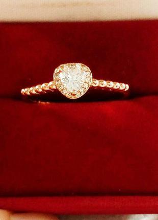 Позолоченное кольцо р.20, позолота