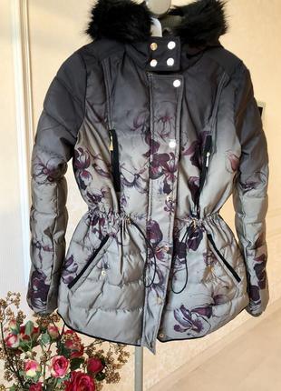 Куртка/ зимняя/ стеганая/ хаки цвета /оригинал /desigual/ m/l