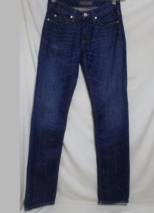 Новые slim джинсы синие тертые w28 l34 *acne jeans* 'hep relax'