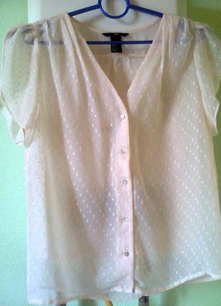 Нежная,прозрачная романтичная  блузочка