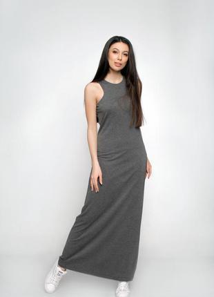 Платье трикотажное длинное  ganveri