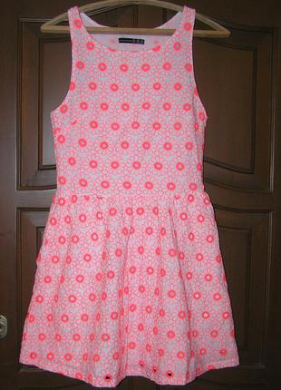 Платье atmosphere c выбитыми цветами