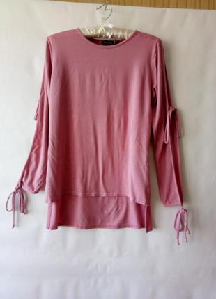 Блуза пудрово-розовая boohoo