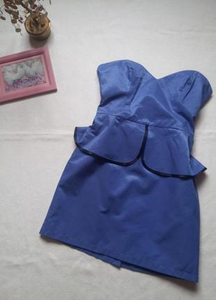 "Платье-бюстье c баской оттенка ""голубой кварц"" ""atmosphere"""