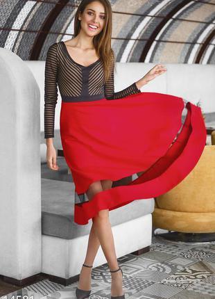 Вечернее платье-миди