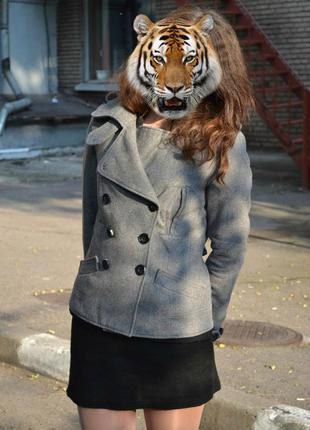 Драповый шерстяной жакет пиджак