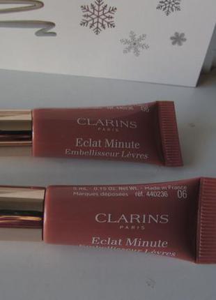 Блеск, выравнивающий кожу губ clarins  eclat minute тон 06