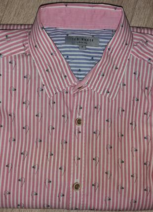Рубашка розовая новая  ted baker