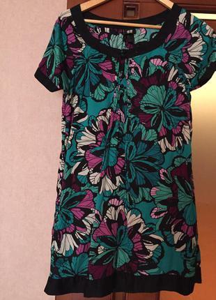 Крутое платье с цветами h&m