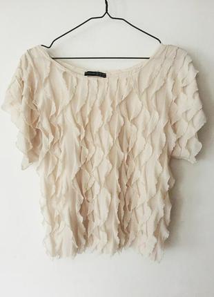 Блуза с рюшами, летящая блуза