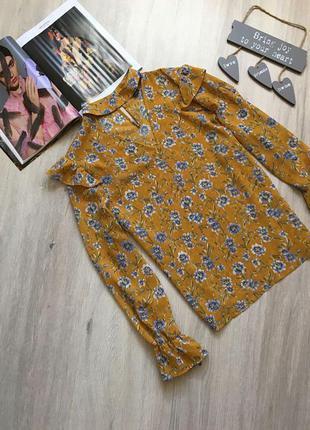 Красивая блуза в цветочный принт с чокером  primark